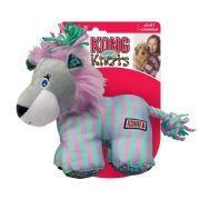 Brinquedo de Pelúcia Leão Kong Carnival Lion com nós de corda internos