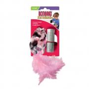 Brinquedo para gatos Pelúcia Rato com penas com Refil Field Mouse Catnip Kong