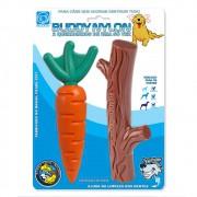 Kit com 2 Mordedores para roer Cenoura + Graveto Nylon Queridinhos Buddy Toys para cães