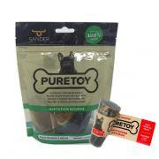 Kit Mordedores Naturais: 3 cascos + 1 chifre bovino Puretoy para cães