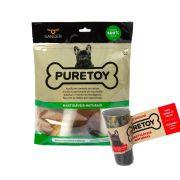 Kit Mordedores Mastigáveis Naturais: Kit para raças pequenas e médias + 1 chifre bovino para cães