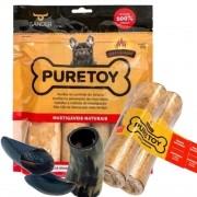 Kit Mordedores Naturais Puretoy Raças Grandes DEFUMADO para cães
