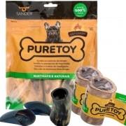 Kit Mordedores Naturais Raças Pequenas e médias DEFUMADO Puretoy para cães