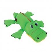 Pelúcia Kong Cozie Ultra Ana Alligator  - Jacaré tecido reforçado com apito para cães