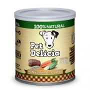 Pet Delícia Panelinha de Carne para cães 320g - Alimento úmido 100% natural