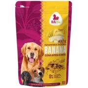 Petisco Biscoito Papapets 100% natural sabor Banana com aveia e mel para cães 180g