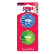 Squeezz Geodz Ball 2 Bolas incríveis KONG para cães com apito tamanho G