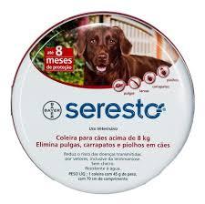 2 Coleiras Seresto G Bayer para cães acima de 8 Kg