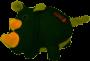 Brinquedo de Pelúcia Rinoceronte Rhino Phatz Kong para cães pequenos e médios