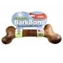 Barkbone Pet Qwerks Dinosaur Steak - Brinquedo de nylon com sabor churrasco para cães