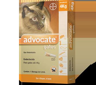 Advocate Gatos até 4 kg Pipeta Antipulga Bayer