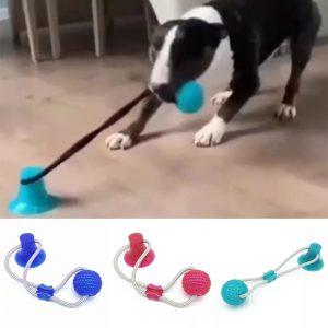 Bola Cabo de Guerra Gruda no chão com Ventosa para cães Petlon