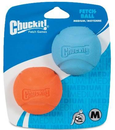 Bola Fetch Ball Chuck It kit com 2 unidades para cães