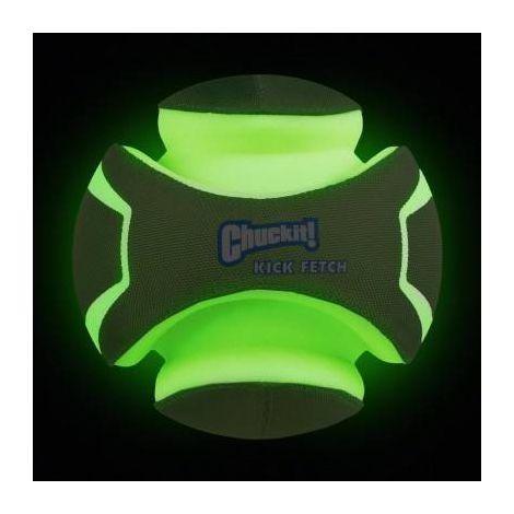 Bola Kick Fetch Max Glow Brilha Escuro Chuck it Grande para cães