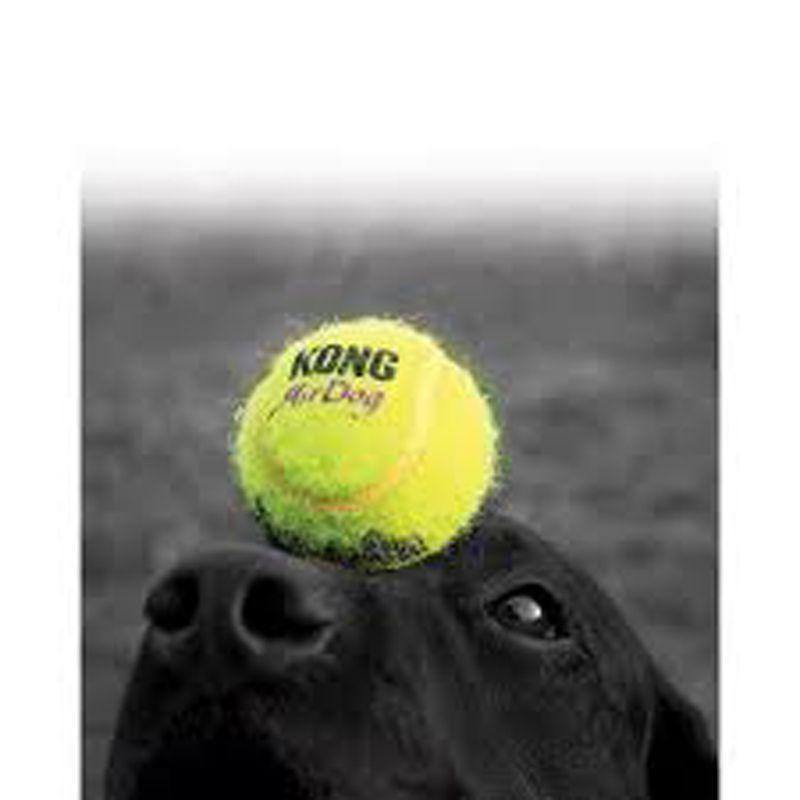 Bola Squeakair Kong com apito para cães
