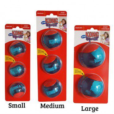 Bolas com apito para cães Squeezz Action KONG