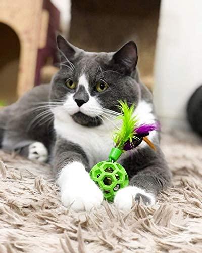 Bolinha para gatos com pena e guizo Feather Ball JW