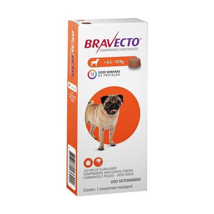 Bravecto Comprimido Mastigável Para Cães 4,5 a 10 Kg