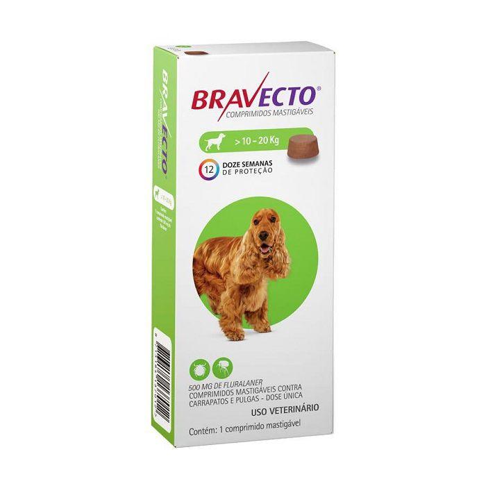 Bravecto Comprimido Mastigável para cães de 10 a 20 Kg
