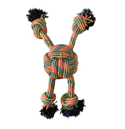 Brinquedo Corda Gigante Bola com 4 pontas para cães