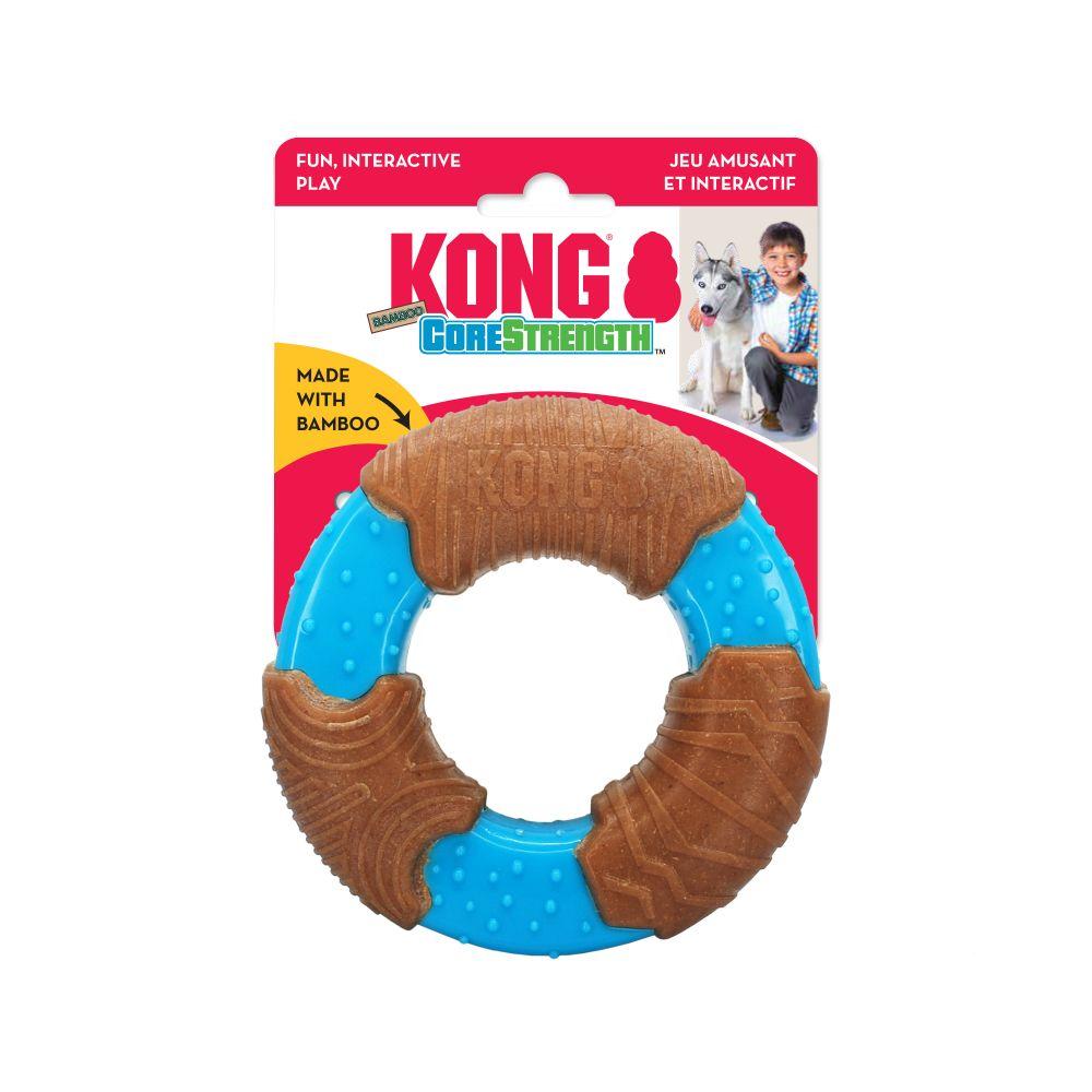 Brinquedo de morder roer CoreStrength Bamboo Ring para cães