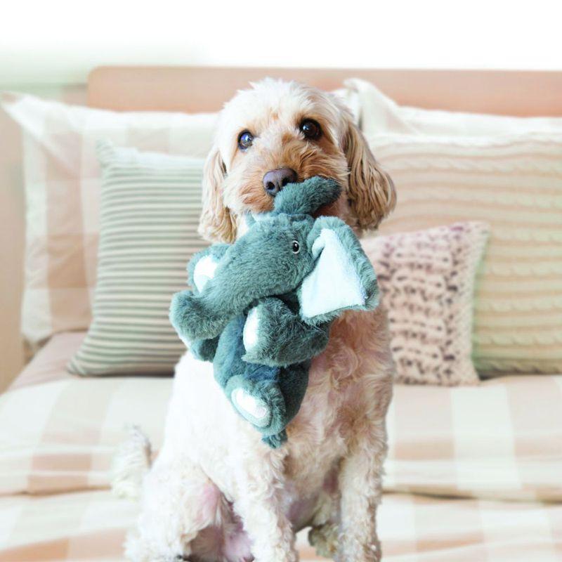 Brinquedo de pelúcia para cães Elefante Kong Comforts Kiddos Elephants