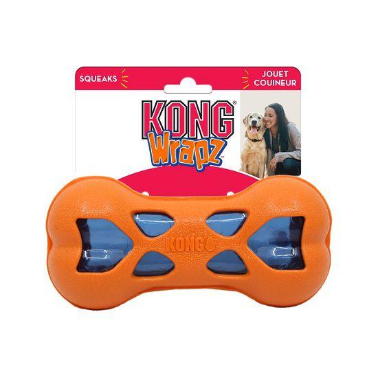 Brinquedo Interativo Osso Wrapz Bone KONG Kong para cães