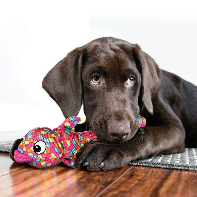 Brinquedo Wubba Finz peixe KONG para cães