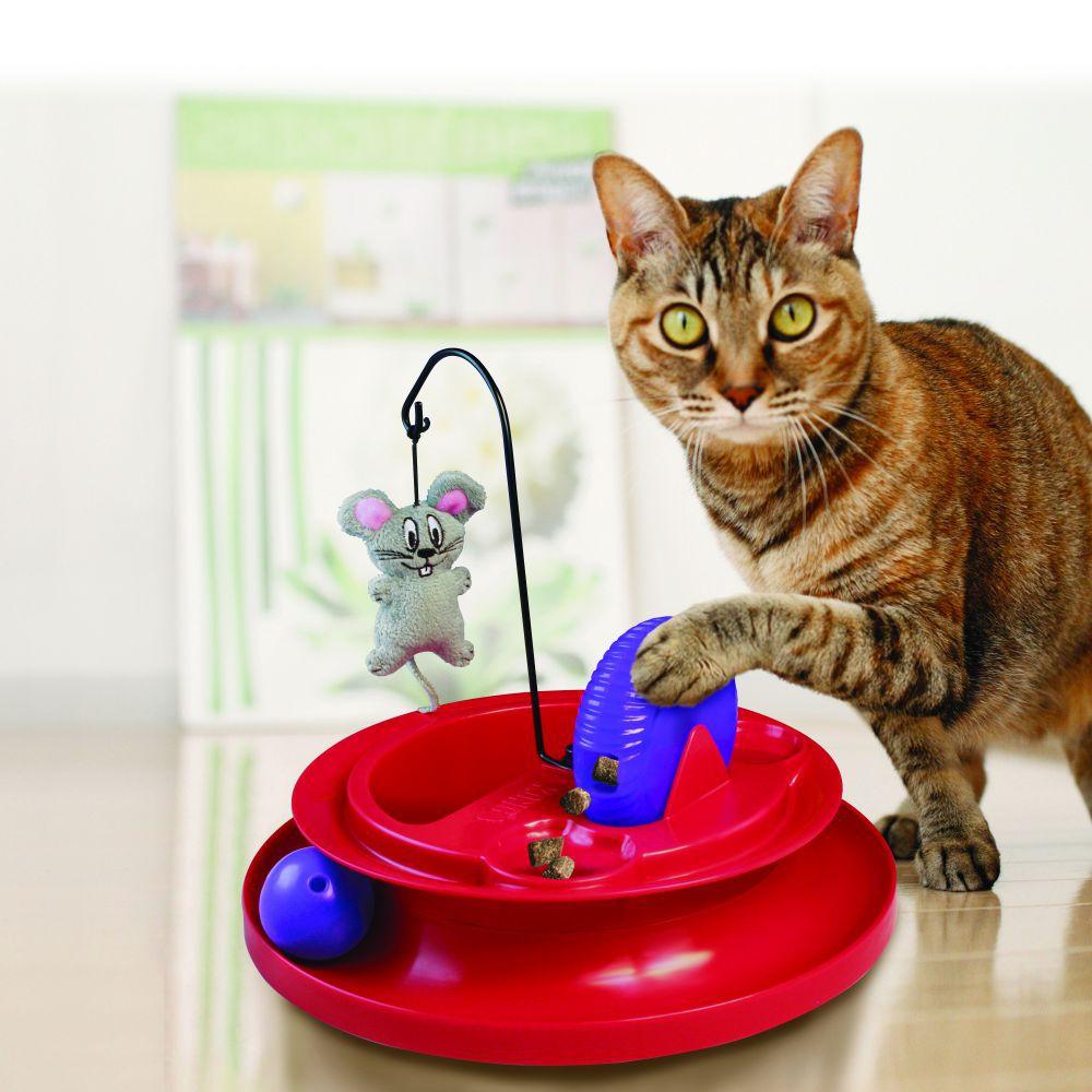Brinquedo interativo para gatos Kong Cat Playground com catnip