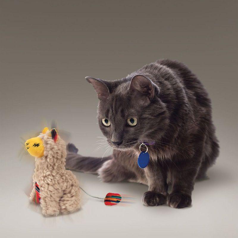 Brinquedo interativo para gatos pelúcia Lhama Softies com Catnip Kong