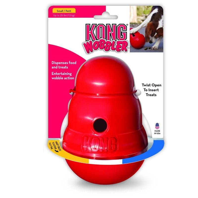 Brinquedo Interativo Recheável para cães Dispenser Wobbler Kong