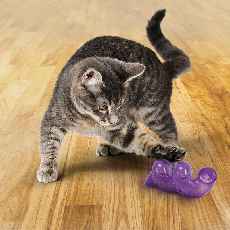 Brinquedo Interativo Recheável para gatos Bat a Bout Spiral Kong