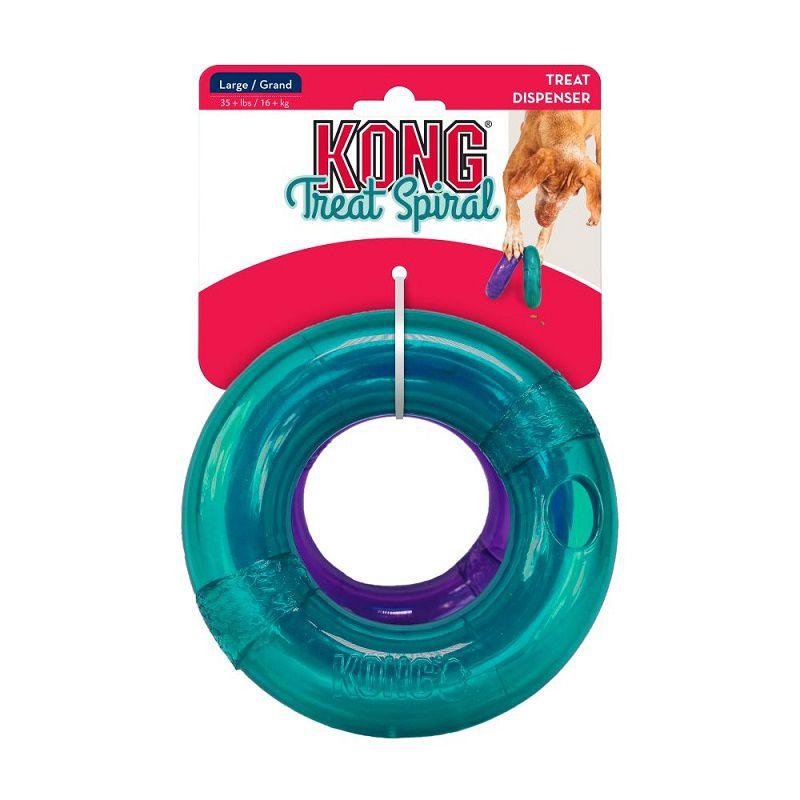 Brinquedo Interativo Recheável Treat Spiral Ring Kong para cães