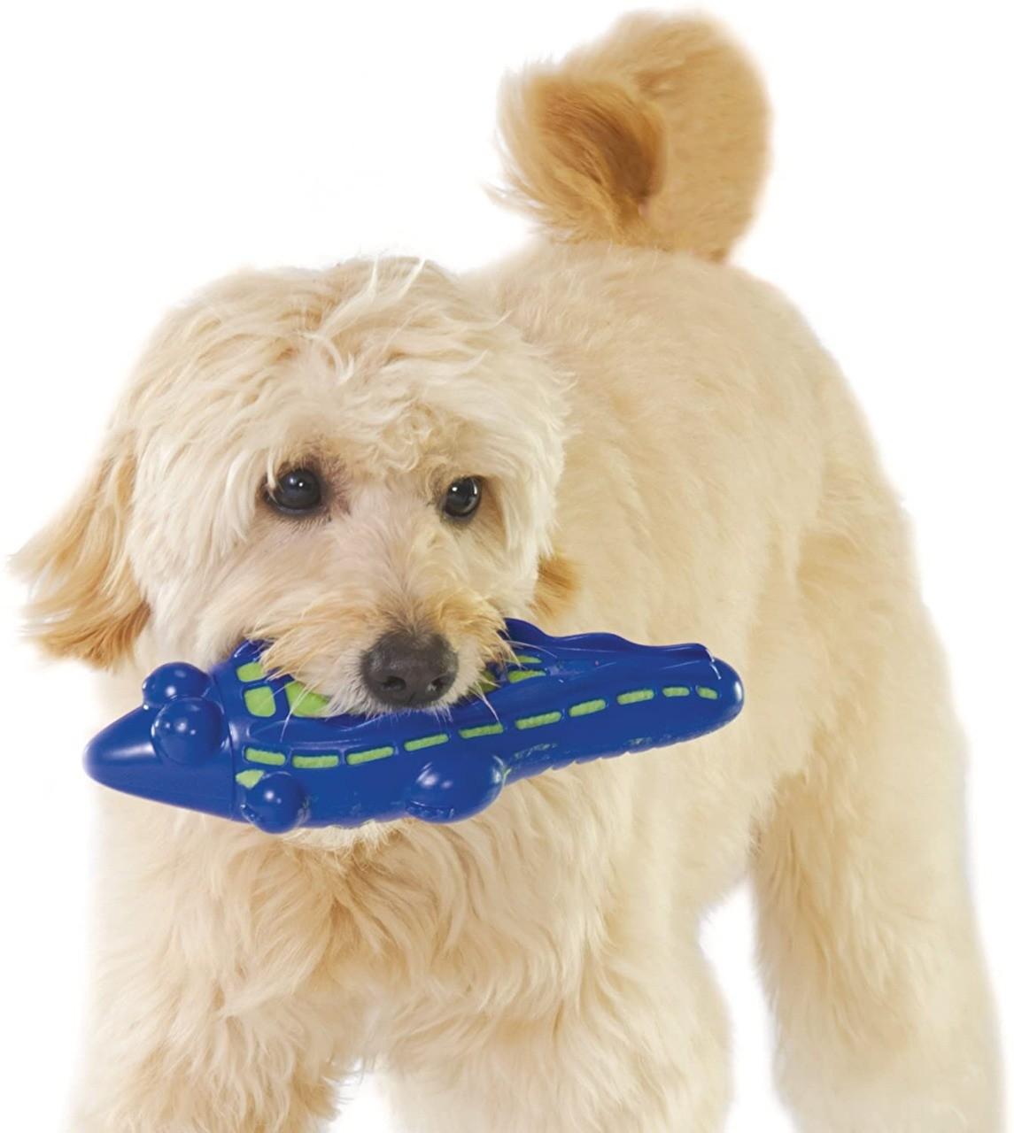 Brinquedo Jacaré  Gummy Plush Petstages de Borracha e Pelúcia para Cães