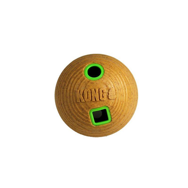 Brinquedo Kong Bola Recheável Bamboo Feeder Ball - dispenser de ração para cães