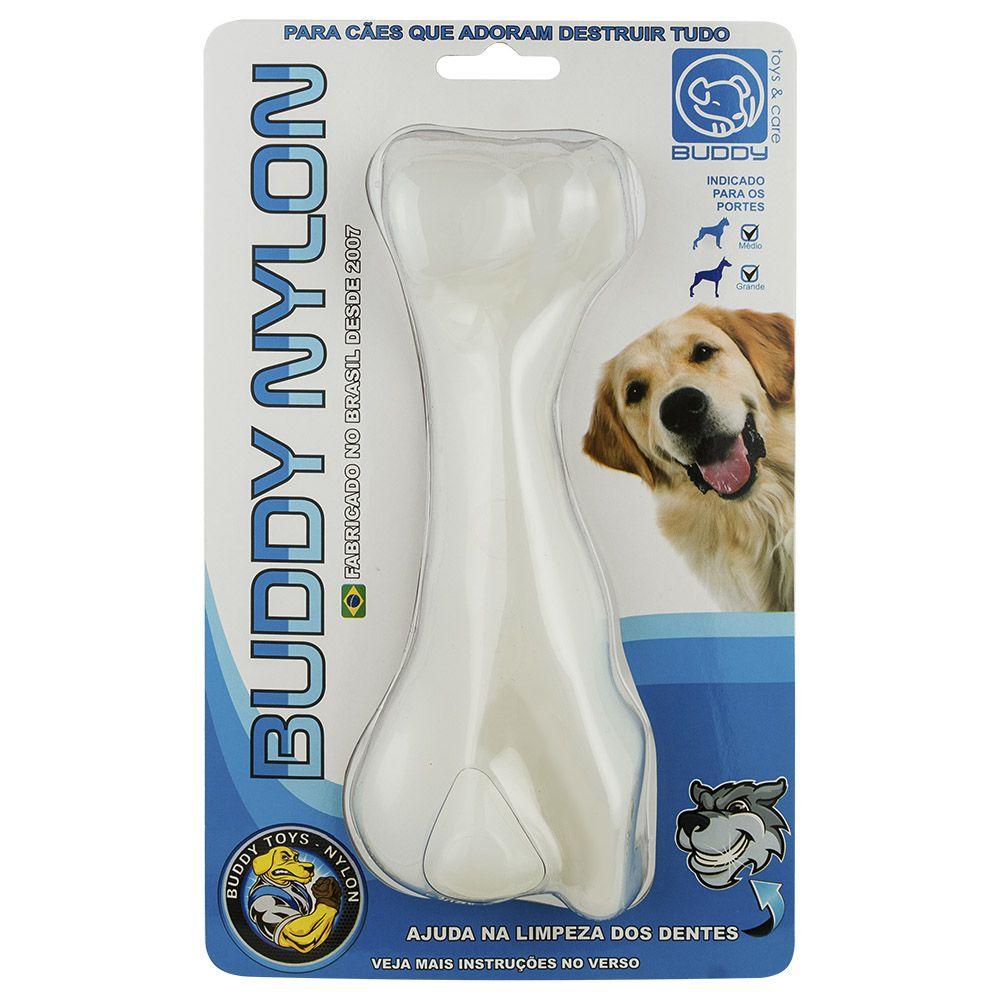 Brinquedo Mordedor para roer de Nylon Ossão Resistente Buddy Toys para cães grandes