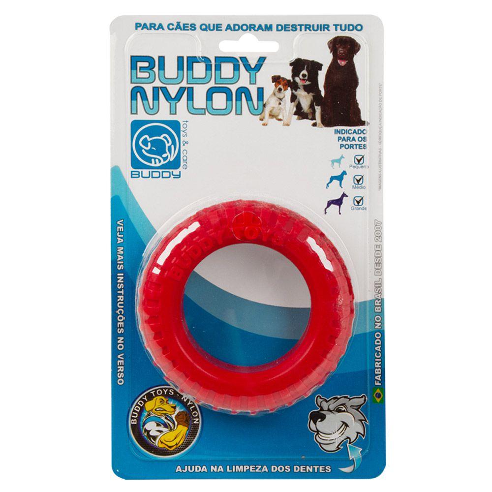Brinquedo Mordedor para roer de Nylon Pneu Resistente Buddy Toys para cães