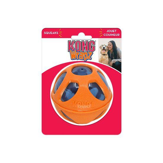 Brinquedo Interativo Bola Wrapz Ball  KONG Kong para cães