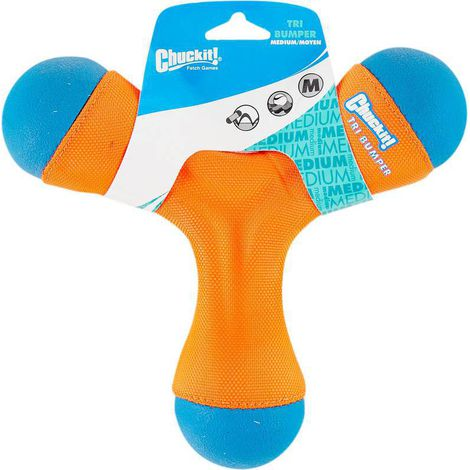Brinquedo para cães Frisbee e Aquático Tri Bumper Chuck It