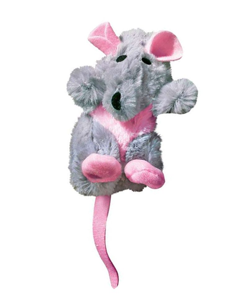 Brinquedo para gatos Pelúcia Rato com refil Catnip Kong