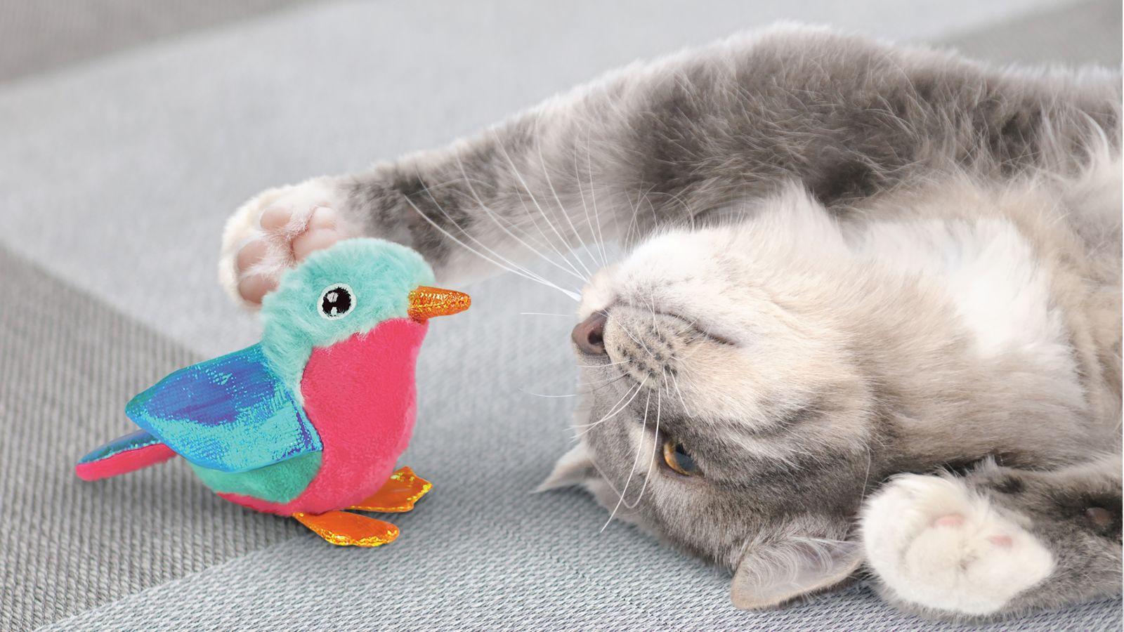 Brinquedo pelúcia com Catnip KONG Crackles Tweetz Bird Pássaro para gatos