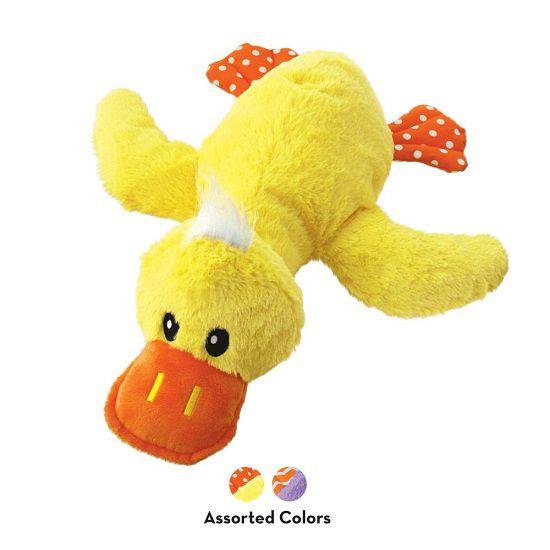 Brinquedo Pelúcia Gigante Pato Comfort Jumbo da KONG para cães