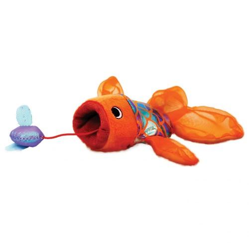 Brinquedo pelúcia Peixe com Catnip Crackles Gulpz KONG gatos