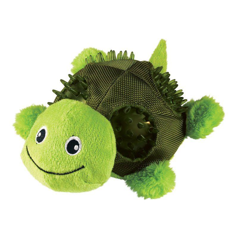 Brinquedo Pelúcia  Shells Turtle Tartatuga Kong para cães