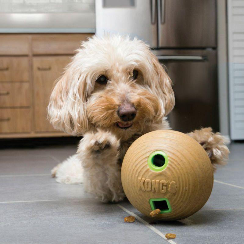 Brinquedo Recheável Kong Halter Bamboo Feeder Dumbbell - Dispenser de comida para cães