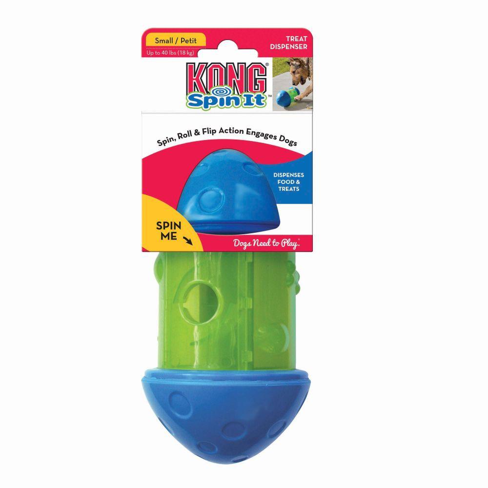 Brinquedo Recheável Spin It Kong Dispenser de ração e petiscos para cães