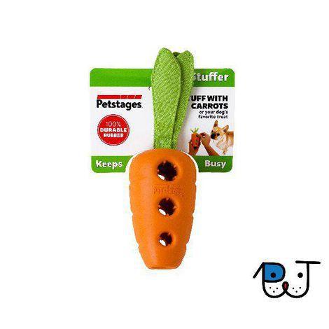 Brinquedo Recheável para cães Cenoura de borracha Petstages