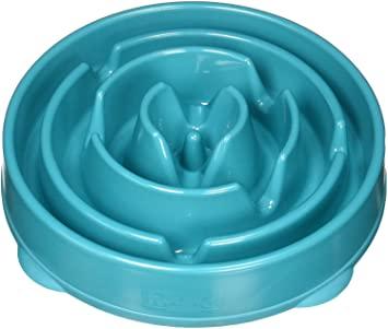 Comedouro Lento interativo para cães Fun Feeder- Azul