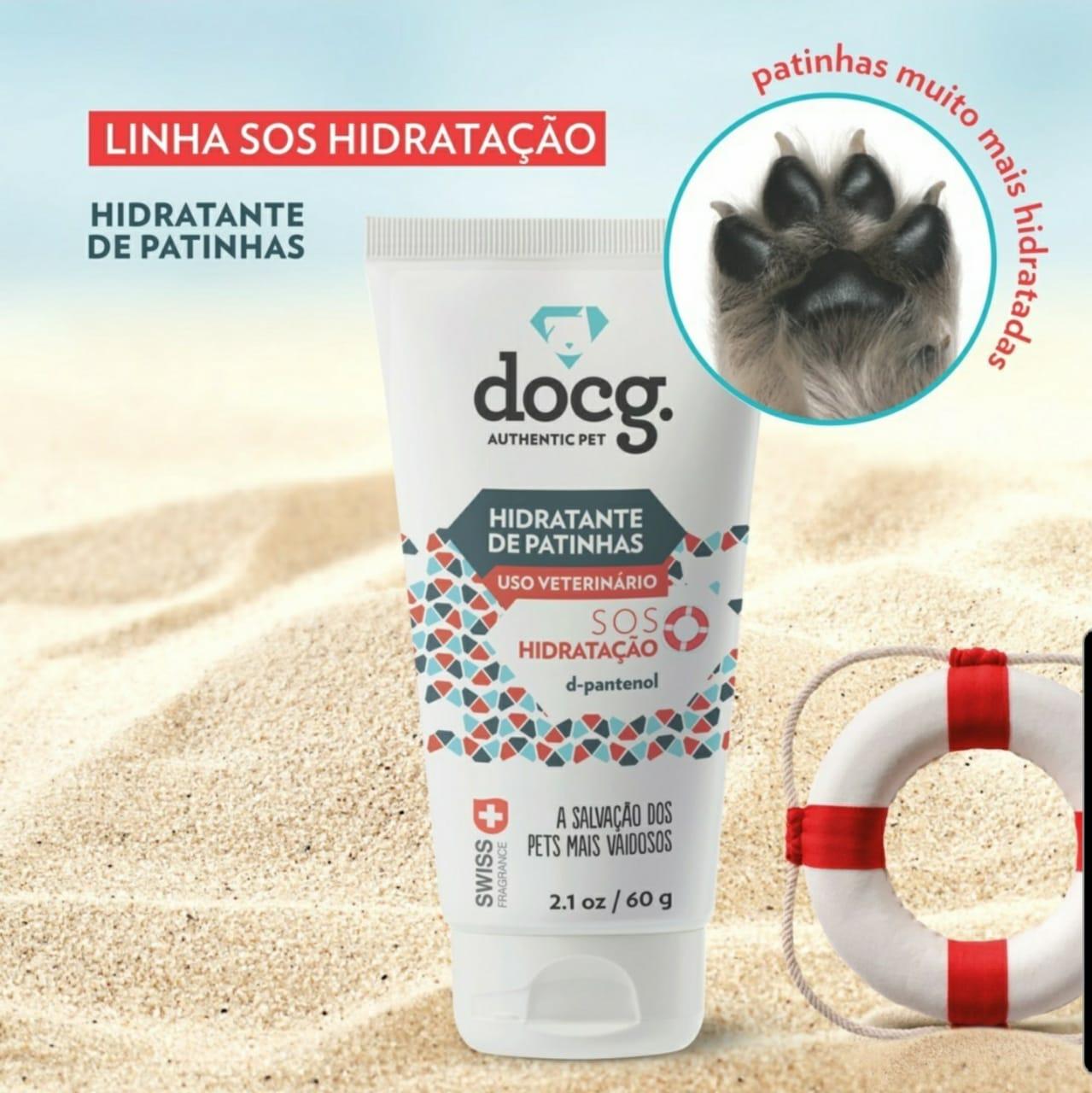 Creme Hidratante de patas patinhas e cotovelos  DocG para pets