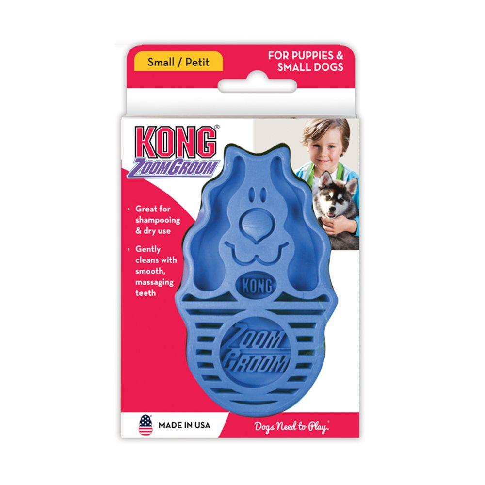 Escova Massageadora borracha Kong ZoomGroom P